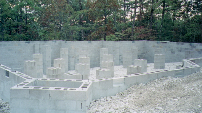 The foundation for House foundation on slope